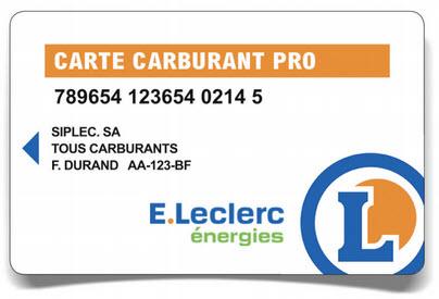 Carte carburant pro E. Leclerc